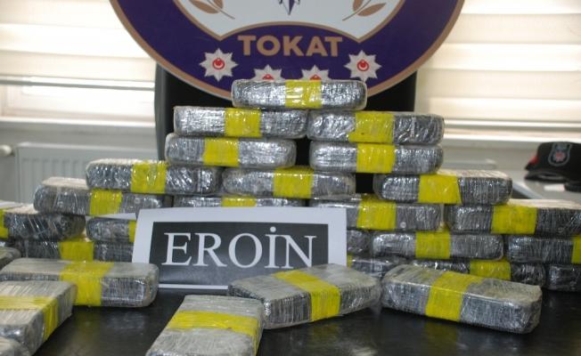Tokat'ta 17 kilogram eroin ele geçirildi