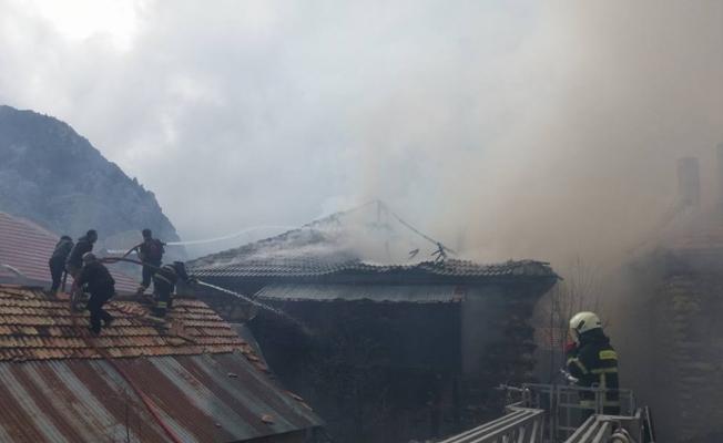 Ateşle kontrol edilen tüp evi kül etti