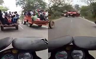 Traktörlerin yarışı kötü bitti