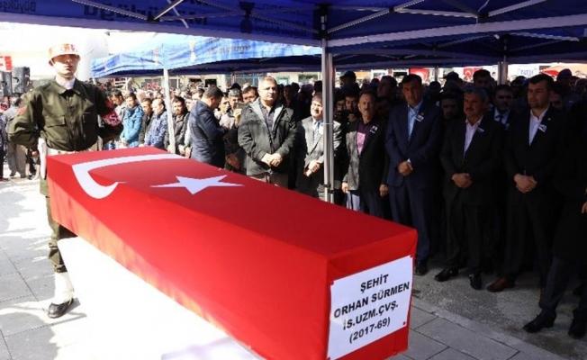 Kahramanmaraş Afrin şehidini uğurladı