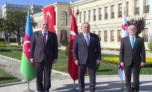 Azerbaycan ve Gürcistanlı mevkidaşlarıyla bir araya geldi