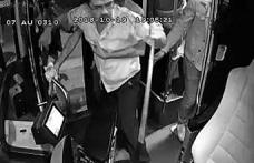 Otobüsün önünü kesip şoförün başına levyeyle vurdu