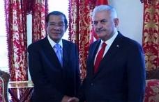Yıldırım, Kamboçya Başbakanını kabul etti