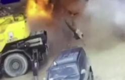 Boş yakıt deposu böyle patladı: 1 ölü, 2 yaralı