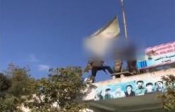 Bülbül karakolundan PYD bayrağı indirildi