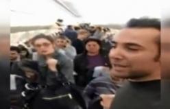 Yolcular uçakta sinir krizi geçirdi