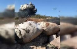 YPG cephaneliği böyle vuruldu