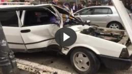 AVM kavşağında kaza 1 yaralı