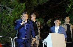 Erdoğan Huber Köşkü önündeki kalabalığa seslendi