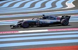 Fransa'da zafer Hamilton'ın