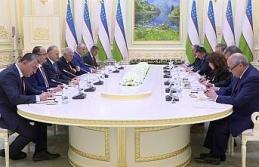 Binali Yıldırım Özbekistan Cumhurbaşkanı ile...