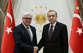 Cumhurbaşkanı Erdoğan, Alman mevkidaşıyla görüştü
