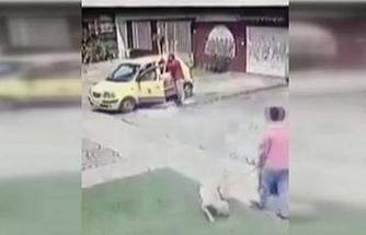 Kolombiya'da ilginç kaza kamerada