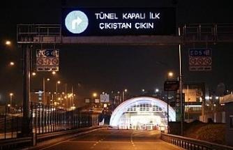 Avrasya Tüneli çift yönlü olarak trafiğe kapatıldı