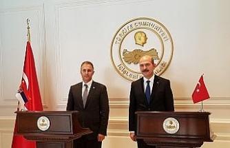 Bakan Soylu Sırbistanlı mevkidaşını kabul etti