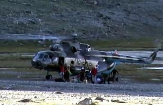 Düşen helikopterdeki 5 kişi yaşamını yitirdi