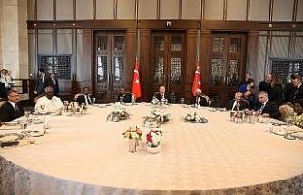 Erdoğan devlet başkanları onuruna yemek verdi