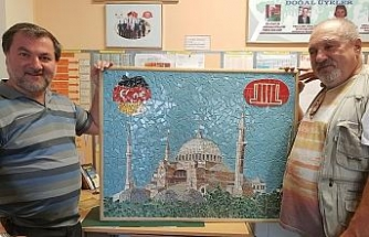 İtalyan ustadan DİTİB camisine anlamlı hediye