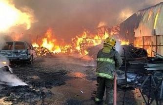 Kuveyt'te pazar yerinde yangın: 7 yaralı