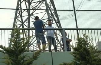 TEM otoyolu üzerindeki Esenkent Köprüsünde intihar girişimi