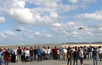 ATAK helikopterleri harmandalı oynadı