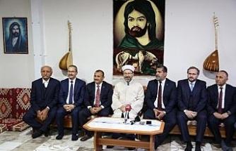 Diyanet İşleri Başkanı Erbaş'tan cemevi ziyareti