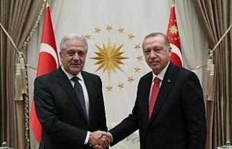 Erdoğan AB Göç Komiserini kabul etti