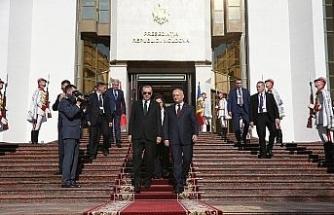 Erdoğan Moldova Cumhurbaşkanlığı Binasının açılış törenine katıldı