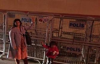 Suudi Konsolosluğu önünde sessiz eylem