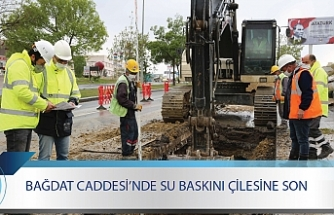 BAĞDAT CADDESİ'NDE SU BASKINI ÇİLESİNE SON