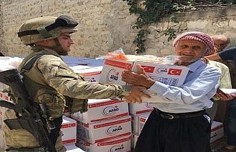Afrin'de 5 bin 200 aileye yardım