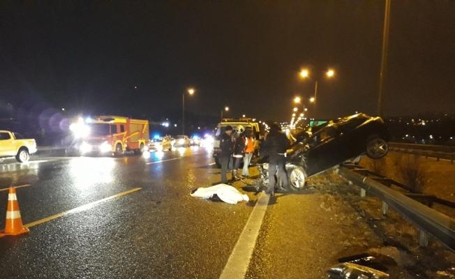Ankara'da feci kaza: 1 ölü, 1 yaralı