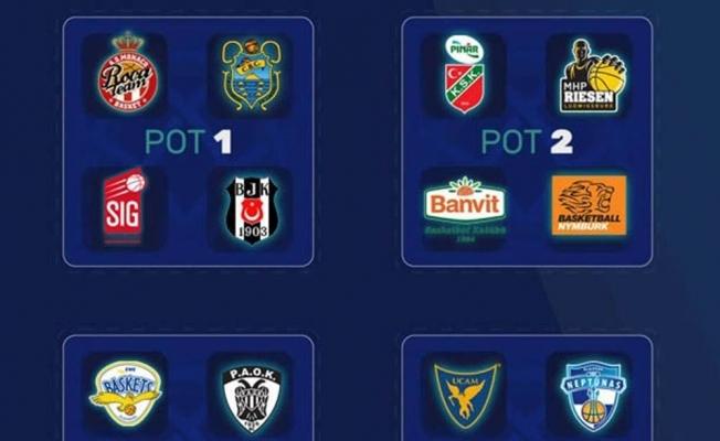 Banvit, Beşiktaş ve Karşıyaka'nın muhtemel rakipleri belli oldu