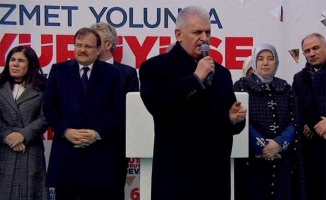 Başbakan Yıldırım Bursa'da coşkulu kalabalığa seslendi