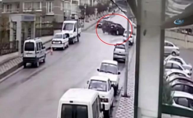 Başkent'te trafik kazaları kameralara yansıdı