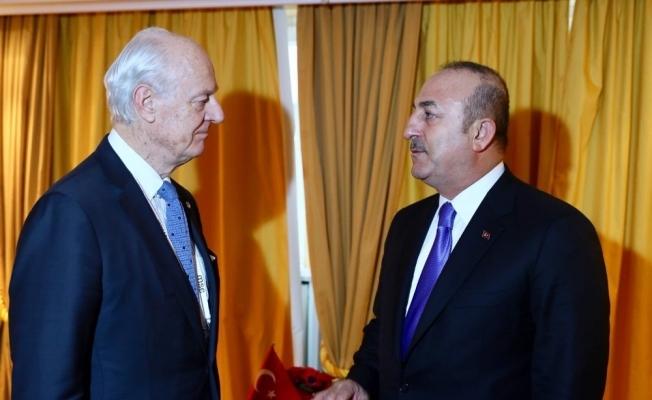 BM Suriye Özel Temsilcisi Staffan de Mistura ile bir araya geldi
