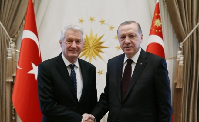 Erdoğan, Avrupa Konseyi Genel Sekreterini kabul etti