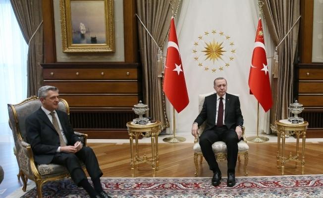 Erdoğan, BM Mülteciler Yüksek Komiserini kabul etti