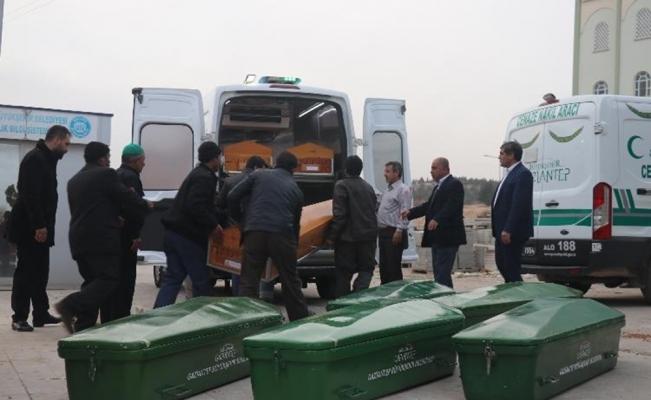 Feci kazada ölen 9 kişinin cenazeleri Gaziantep'e getirildi