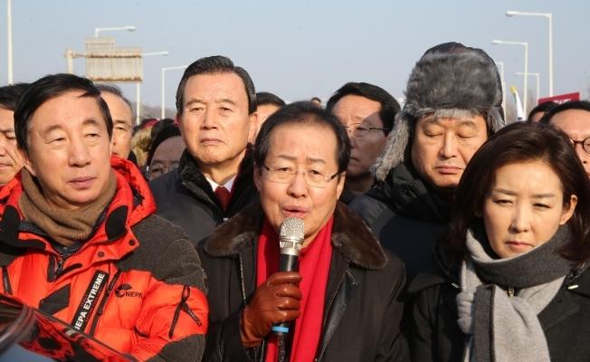 Güney Korelilerden 'Kim Yong Chol' protestosu