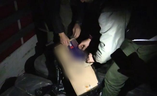 Kocaeli'de 200 bin TL'lik kaçak sigara ele geçirildi