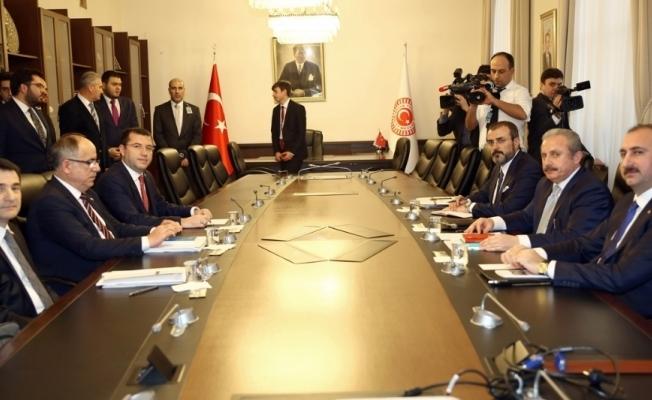 Milli Mutabakat Komisyonu üyeleri Erdoğan'ı bilgilendirdi