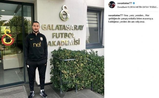 Necati Ateş, Galatasaray'da görevine başladı
