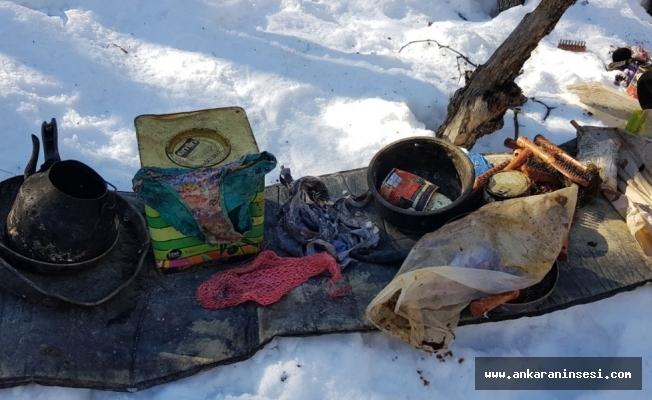 Tunceli'de hainlerin sığınakları imha edildi