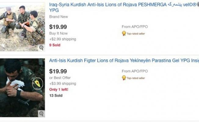 Uluslararası alışveriş siteleri PKK-PYD paçavraları satıyor
