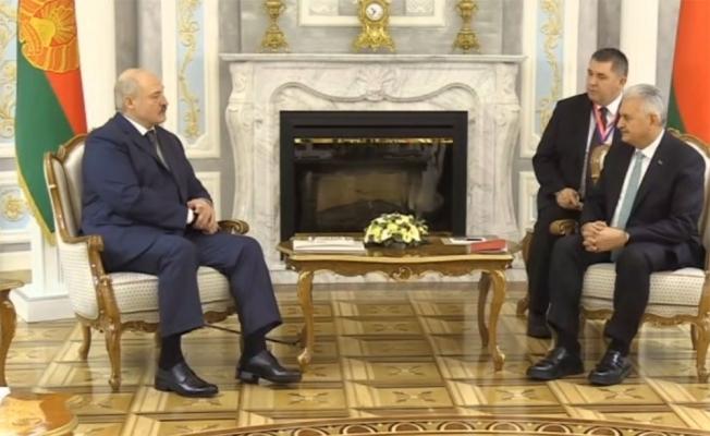 Yıldırım Belarus Cumhurbaşkanı Lukaşenko ile görüştü
