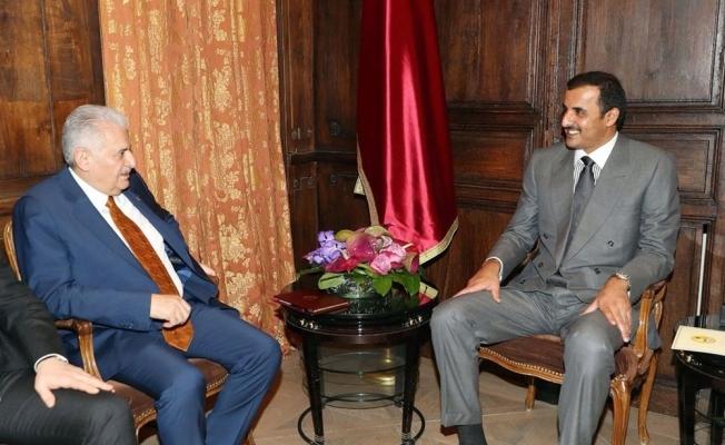 Yıldırım Katar Emiri Al Sani ile görüştü