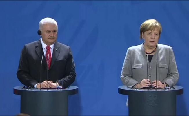 Yıldırım-Merkel görüşmesi sonrası önemli açıklamalar