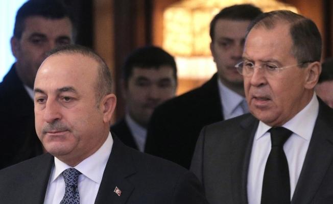 Bakan Çavuşoğlu Rus mevkidaşı ile bir araya geldi