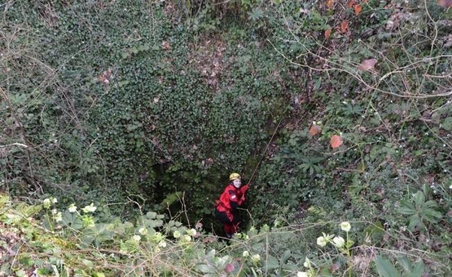 Çatalca'da 39 metre derinliğinde mağara keşfedildi